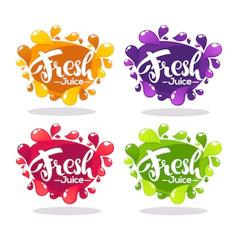 Vector collection of bright bubbles frames stickers