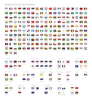 Векторная коллекция флагов стран
