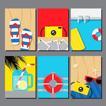 Vector collection of summer