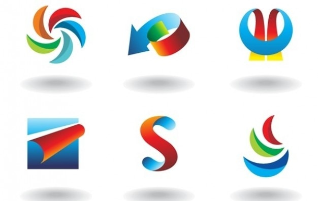 Vector coloful abstract elements
