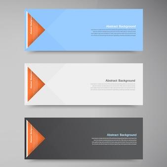 Векторные цветные баннеры. кривые и бумажные оригами