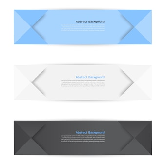 Vector color banners. curve and paper origami