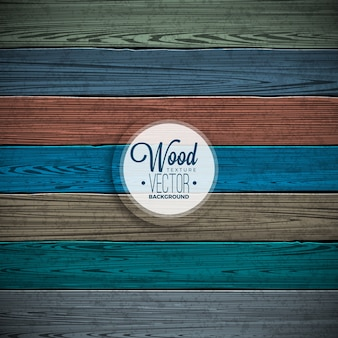 Vector color painted wood texture background design. Natural dark vintage wooden illustration.