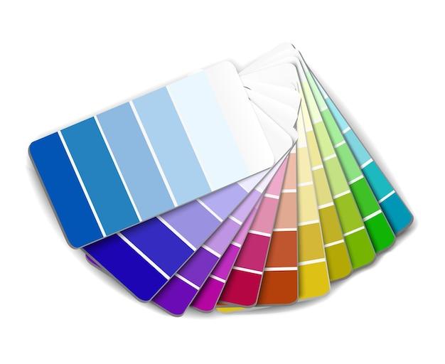 디자이너를 위한 벡터 색상 팔레트 선택