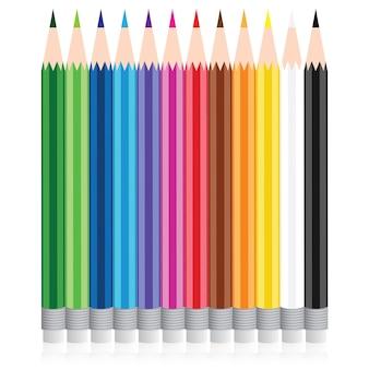 Vector color pencil