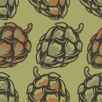 Vector color seamless pattern with cones