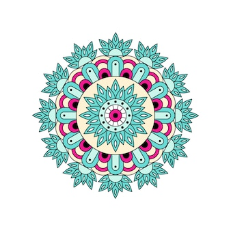 Vector colored mandala