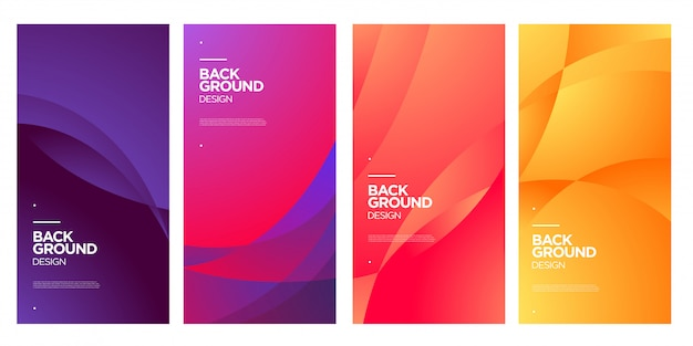 Vector colorful abstract fluid geometric gradient background