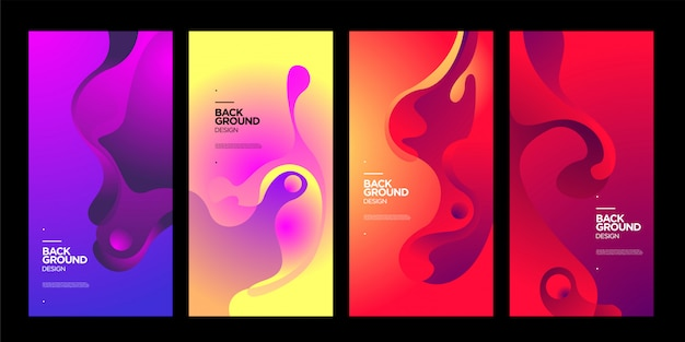 Vector colorful abstract fluid gradient background