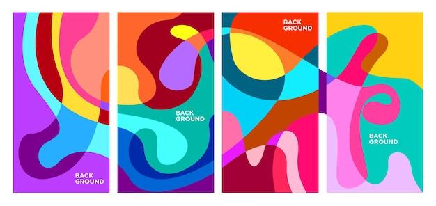 ベクトルカラフルな抽象的な幾何学的な液体の背景