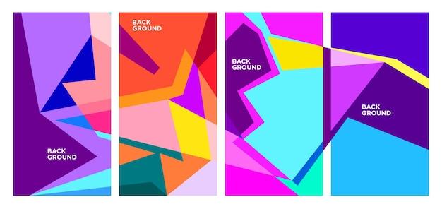 Вектор красочные абстрактные геометрические и жидкий фон