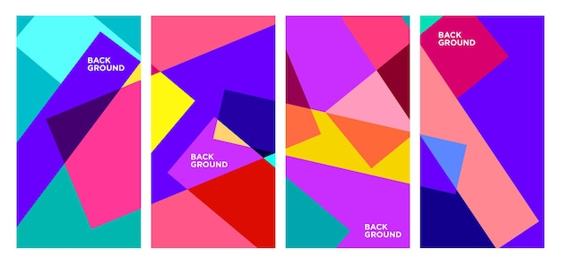 Vector colorful abstract geometric and liquid background