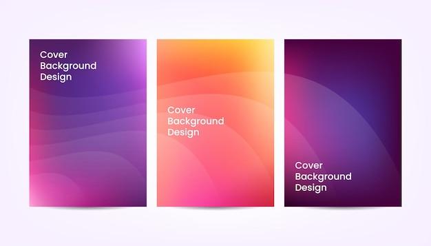 Вектор красочный абстрактный градиент обложки фона дизайн.