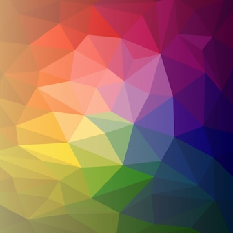 Vector colorful abstract rainbow varicolored background polygon