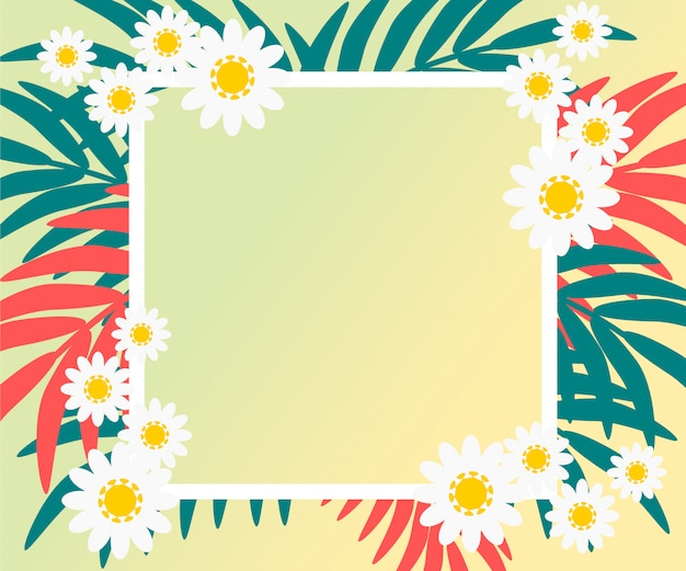 Vector of colorful floral in pastel tone background