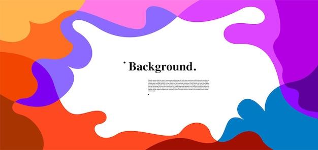 Вектор красочные жидкости и жидкости абстрактный фон