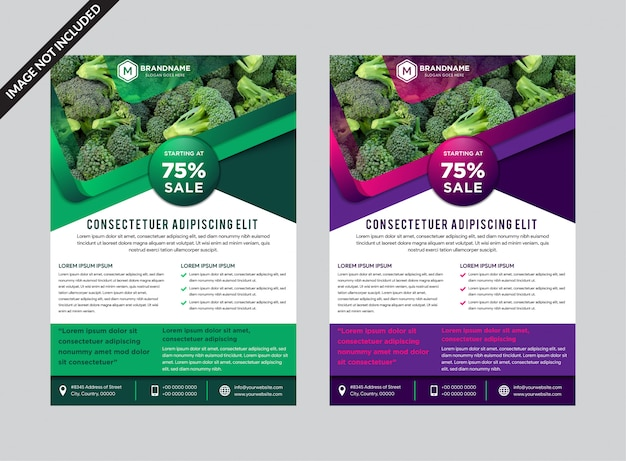 Vector colorful flyers design template.