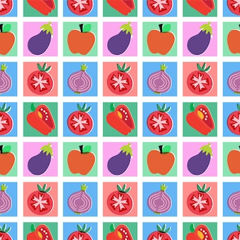 Vector colorful fruits illustration seamless repeat pattern home decor print kitchen fabric