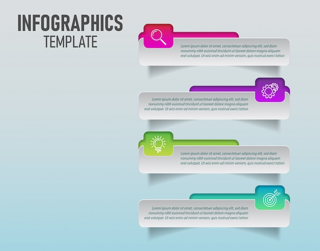 Vector of colorful infographics template