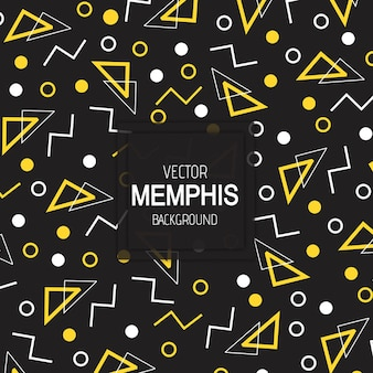 Vector colorful memphis background