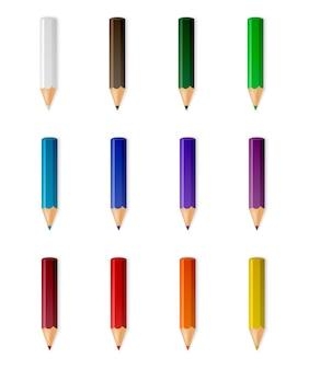 Vector colour pencils