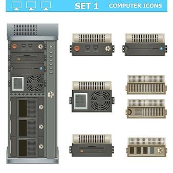 벡터 컴퓨터 아이콘 세트 1