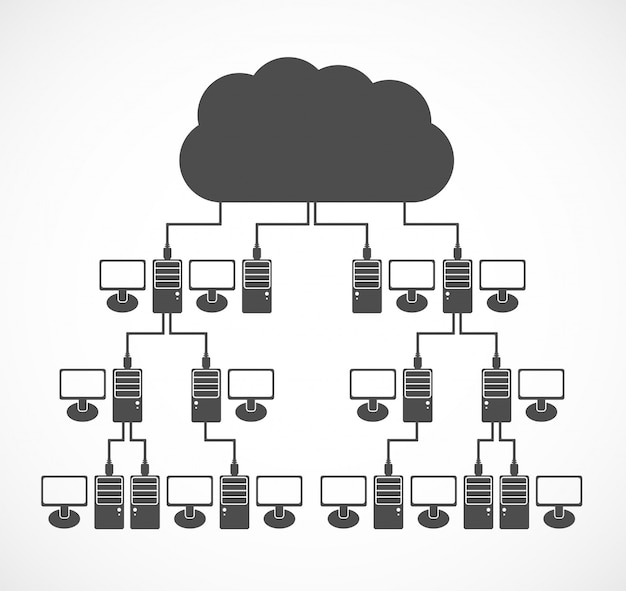 Vector computer network concept.