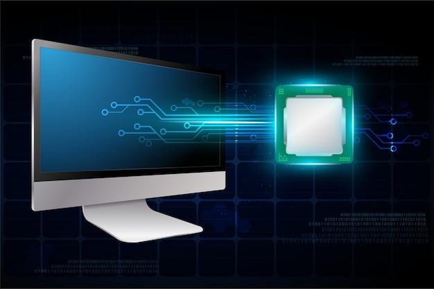 Векторный компьютер с микрочипом