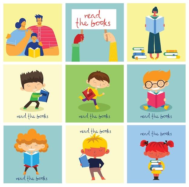 Векторные иллюстрации концепции всемирного дня книги