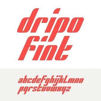 Векторный сжатый оригинальный дизайн шрифта жирным шрифтом