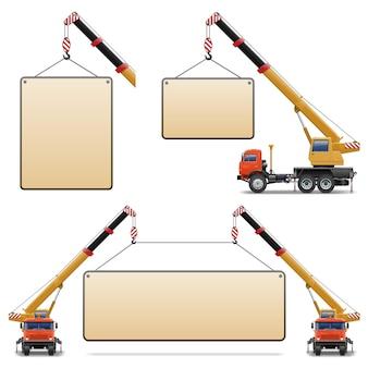 Строительные машины вектор набор 6