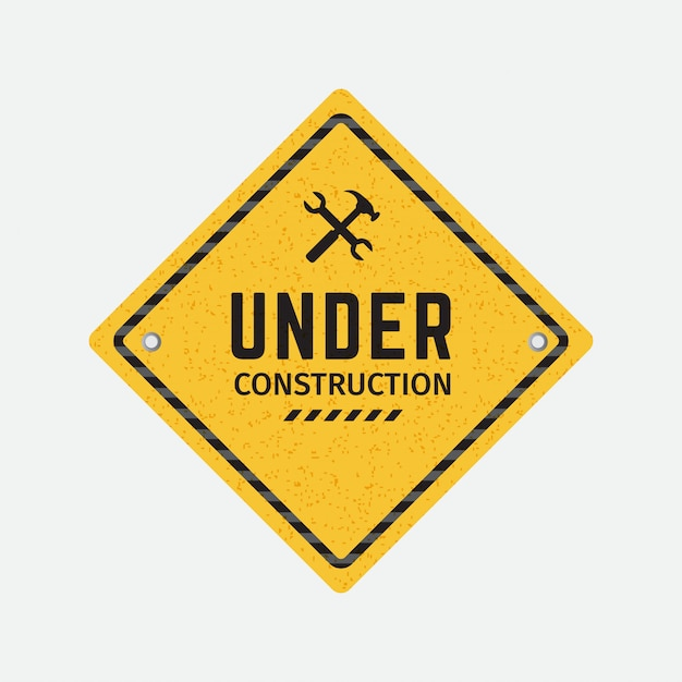 Vector under construction road sign