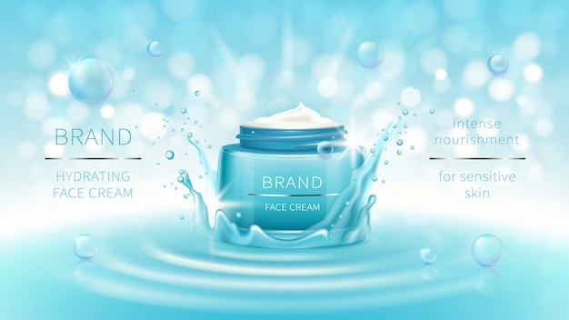 Banner cosmetico vettoriale o marchio di promozione