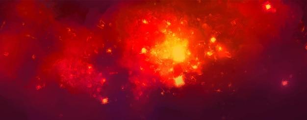 ベクトル宇宙水彩イラスト。星とカラフルな空間の背景