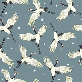 Vector crane pattern