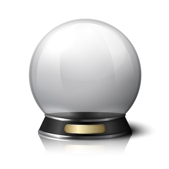 Vector crystal ball for fortune tellers
