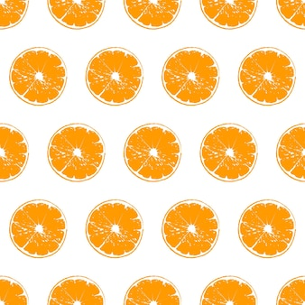 Vector cut orange pattern on white background