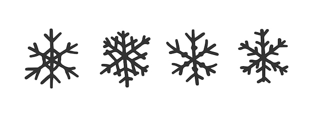 Vector cute snowflakes set for christmas design