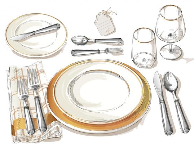 Vector cutlery set