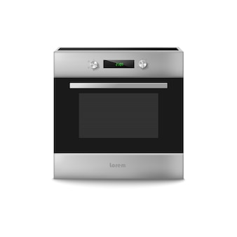 Vector d illustration of electric oven home kitchen equipment for cook food