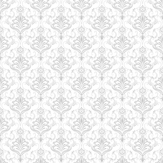 Vector Damask Seamless Pattern Background Classical Luxury Old Fashioned Ornament Royal Victorian