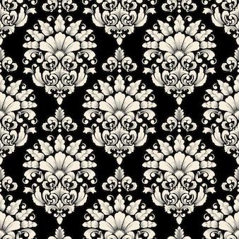 벡터 다 완벽 한 패턴 배경입니다. 클래식 럭셔리 구식 다 장식, 월페이퍼, 섬유, 포장을위한 로얄 빅토리아 원활한 질감.