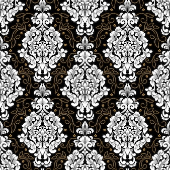 Vector damask seamless pattern background. classical luxury old fashioned damask ornament, royal victorian seamless texture for wallpapers, textile, wrapping.