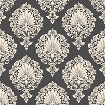Vector damask seamless pattern background. classical luxury old fashioned damask ornament