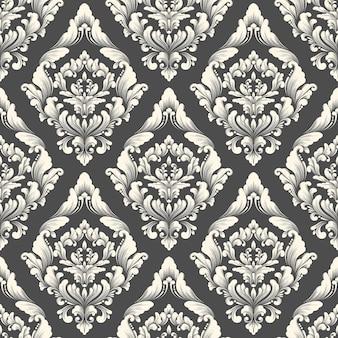 ベクトルダマスクシームレスパターン背景