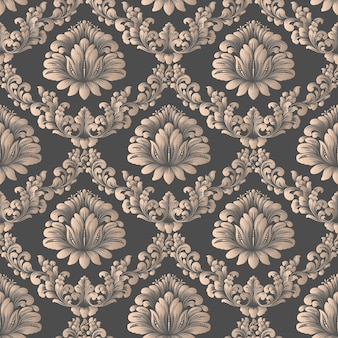 Vector damask seamless pattern backgroundelegant luxury texture for wallpapers