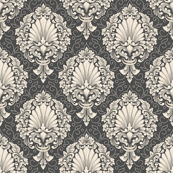 Vector damask seamless pattern. classical luxury old fashioned damask ornament, royal victorian wallpaper