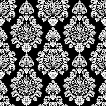 Vector damask seamless pattern. classical luxury old fashioned damask ornament, royal victorian wallpapers