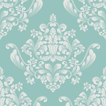 ベクトルダマスクシームレスパターン要素。古典的な豪華な昔ながらのダマスク織の飾り、壁紙、テキスタイル、ラッピングのロイヤルビクトリア朝のシームレスなテクスチャ。