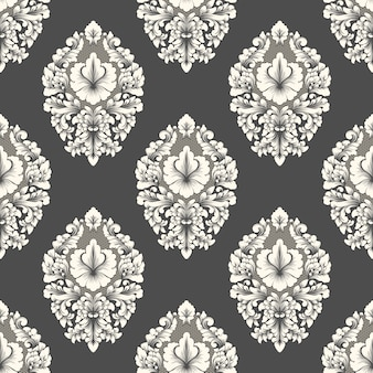 Vector damask seamless pattern element. classical luxury old fashioned damask ornament, royal victorian style.